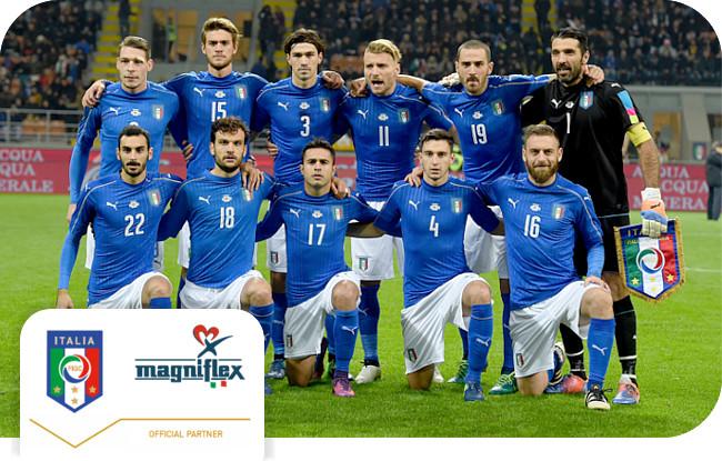 Magniflex – официальный партнер сборной Италии по футболу